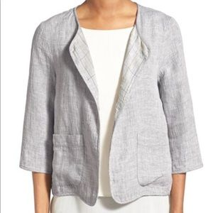 Eileen Fisher Gray Linen Jacket